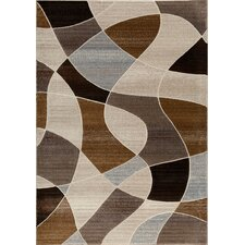 Providence Brown Distorted Plaid Area Rug