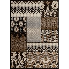 Providence Charcoal Tribal Quilt Area Rug