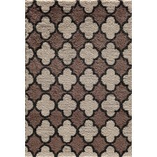 Mesa Pearl/Cocoa Quadrant Two Tone Rug
