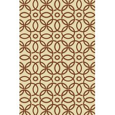 Olympia Ivory/Rust Snow/Clay Quinn Area Rug