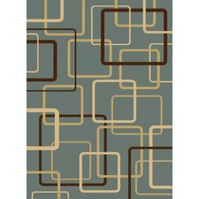 Gallery Circuitry Blue Area Rug