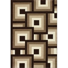 Oasis Blocks Brown/Beige Area Rug