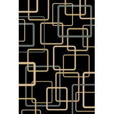 <strong>Central Oriental</strong> Interlude Circuitry Black Rug