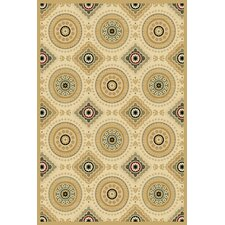 Paige Wheat Deco Medallion Rug
