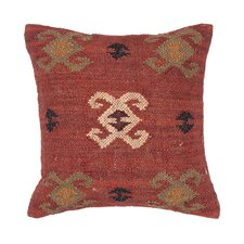 BedouinTraditional Wool and Jute Pillow