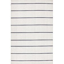 <strong>Jaipur Rugs</strong> C. L. Dhurries Ivory/Black Stripe Rug