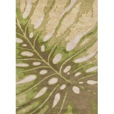 C. L. Hand-Tufted Green/Ivory Coastal Rug