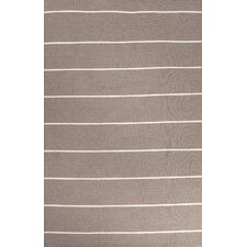 <strong>Jaipur Rugs</strong> C. L. Dhurries Gray/Ivory Stripe Rug