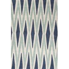 Fusion Blue/Ivory Geometric Rug
