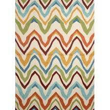 Coastal Ivory/Multi Geometric Rug