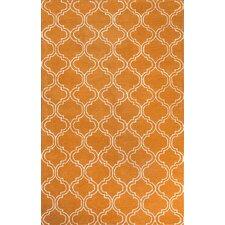 Baroque Orange/Ivory Area Rug