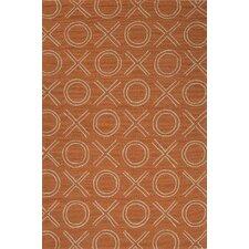Grant Orange/Ivory Indoor/Outdoor Rug