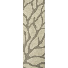 Coastal Ivory/Gray Coastal Indoor/Outdoor Rug