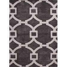 City Gray/Ivory Geometric Rug