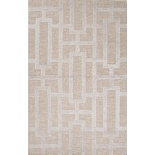 City Taupe/Gray Geometric Rug