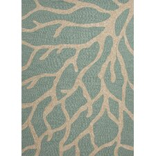 Coastal Blue/Ivory Coastal Indoor/Outdoor Rug