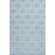 Metro Blue Solid Rug