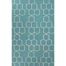 Maroc Geometric Blue Area Rug