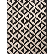 Patio Ivory & Black Indoor/Outdoor Area Rug I