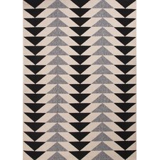 Patio Ivory & Black Indoor/Outdoor Area Rug