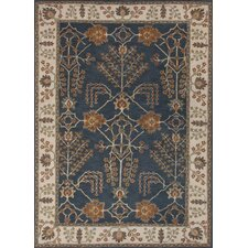 <strong>Jaipur Rugs</strong> Poeme Blue/Ivory Arts and Craft Rug