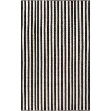 Playa Black/Ivory Cabana Stripe Rug