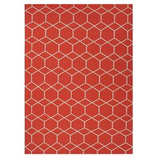 <strong>Jaipur Rugs</strong> Maroc Red/Orange Geometric Rug