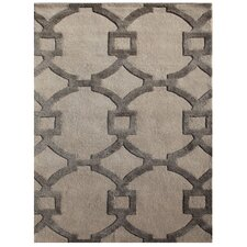 City Ivory & Gray Geometric Area Rug