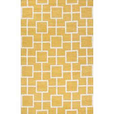 City Yellow / Ivory Area Rug