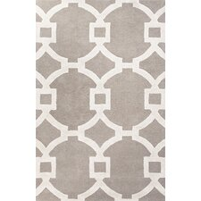 City Light Gray & Ivory Geometric Area Rug