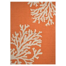 Grant Orange/Gray Bough Out Indoor/Outdoor Area Rug