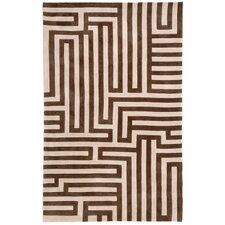 Fusion Labyrinth Beige/Brown Geometric Rug