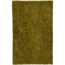 Flux Bronze Green Shag Area Rug