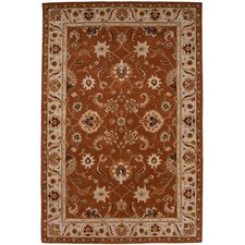 Poeme Orange Rust/Antique White Rug