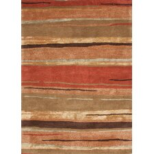 Baroque Rust Abstract Rug