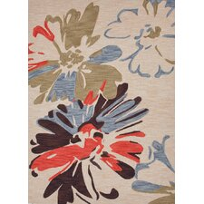 Brio Antique White Floral Rug