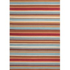 Colours I-O Red Stripe Rug