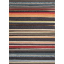 Colours I-O Charcoal Stripe Indoor/Outdoor Rug