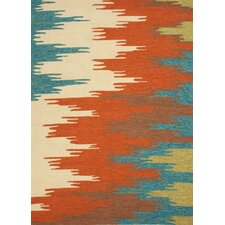 Colours I-O Rust Abstract Rug