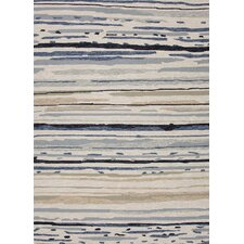 Colours I-O Gray Abstract Area Rug
