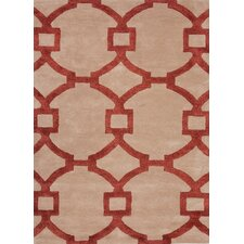 City Beige Geometric Rug