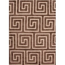 City Brown Geometric Rug