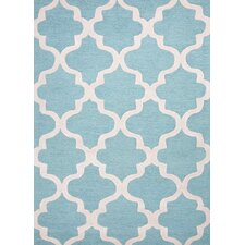 City Blue/Ivory Geometric Rug