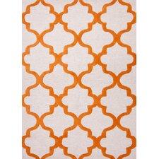 City Red/Orange Geometric Rug