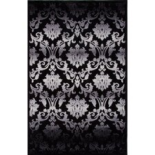 Fables Gray/Black Floral Rug