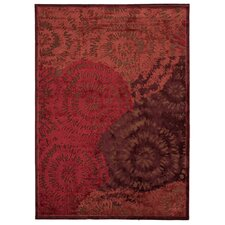 Fables Red/Orange Abstract Rug