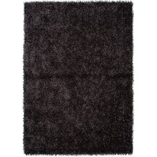 Flux Black/Gray Solid Area Rug