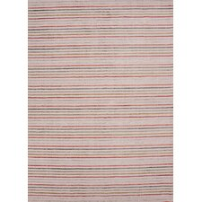 Konstrukt Antique White Stripe Rug
