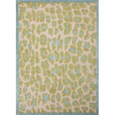 <strong>Jaipur Rugs</strong> Midtown by Raymond Waites Green Animal Print Rug