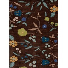 <strong>Jaipur Rugs</strong> Midtown By Raymond Waites Brown Floral Rug